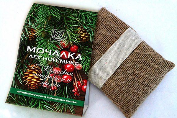 Мочалка с натуральным мылом: «Джутовая мочалка «Лесной Микс»»
